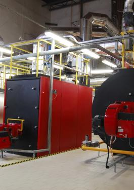 Boilers in use at a facility