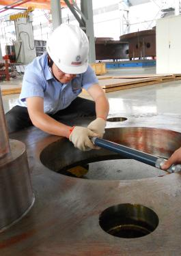 Bureau Veritas employees performing commissioning services in an under construction building